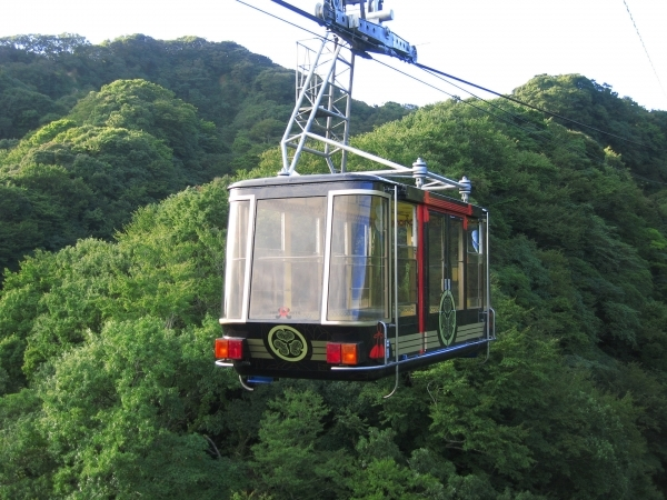 Nippondaira Lookout Cable Car service takes passengers to the Coastline Below